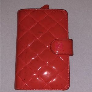 Chanel Patent Leather L Zip Wallet